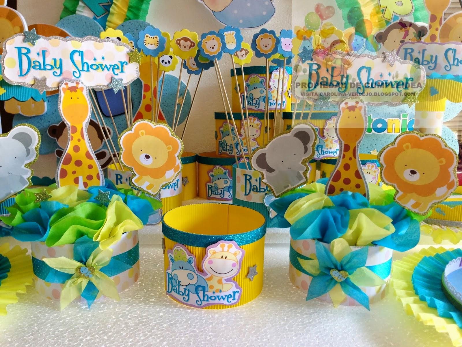 Ideas baby shower ni o animales - Ideas para baby shower de nino ...