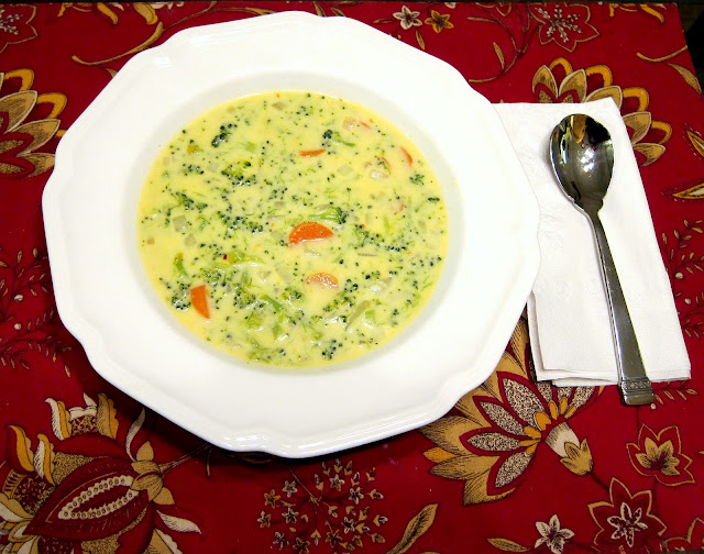 Broccoli-cheddar soup is one of my favorite meals to prepare on those ...