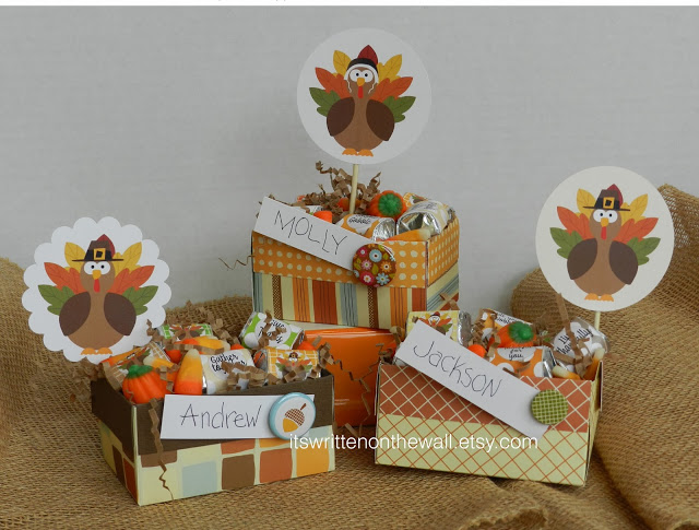 Thanksgiving Place Cards-Treat Boxes