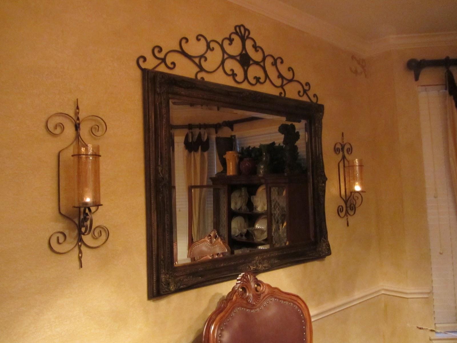 Embellishments by slr old world tuscan dining room for Room decor embellishment art