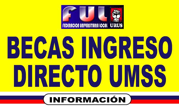 BECAS INGRESO DIRECTO UMSS