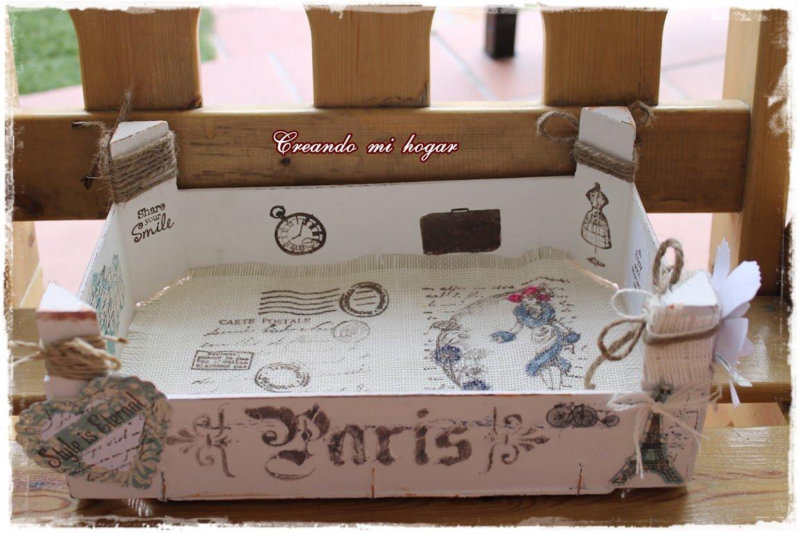 Creando mi hogar primera caja de fresas - Cajas de fresas decoradas paso a paso ...