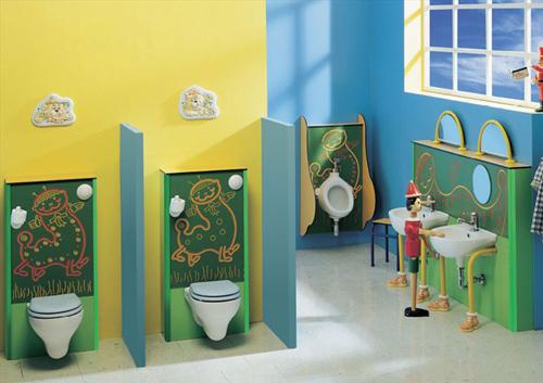 Bellos diseños de baños para niños - Ponte Giulio