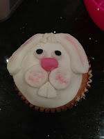 Easter bunny face cupcakes