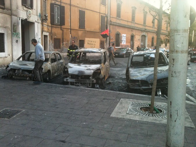 When Travel Goes Wrong: Burnt cars in the Rome Riots in 2011