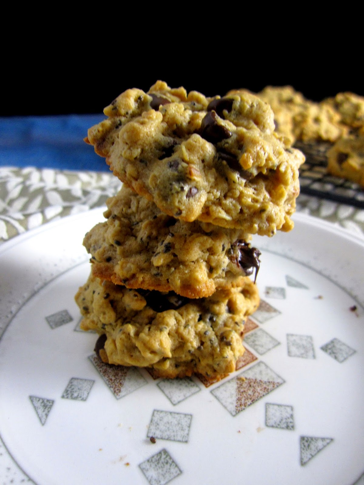 Chia Seed Peanut Butter Oatmeal Cookies