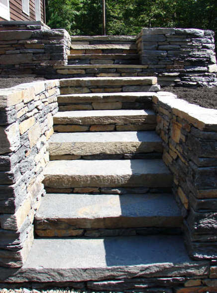 Building Stone Steps : Dry stone building best rock steps