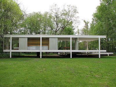 8 principios b sicos de la arquitectura de mies van der for Casa minimalista de mies van der rohe