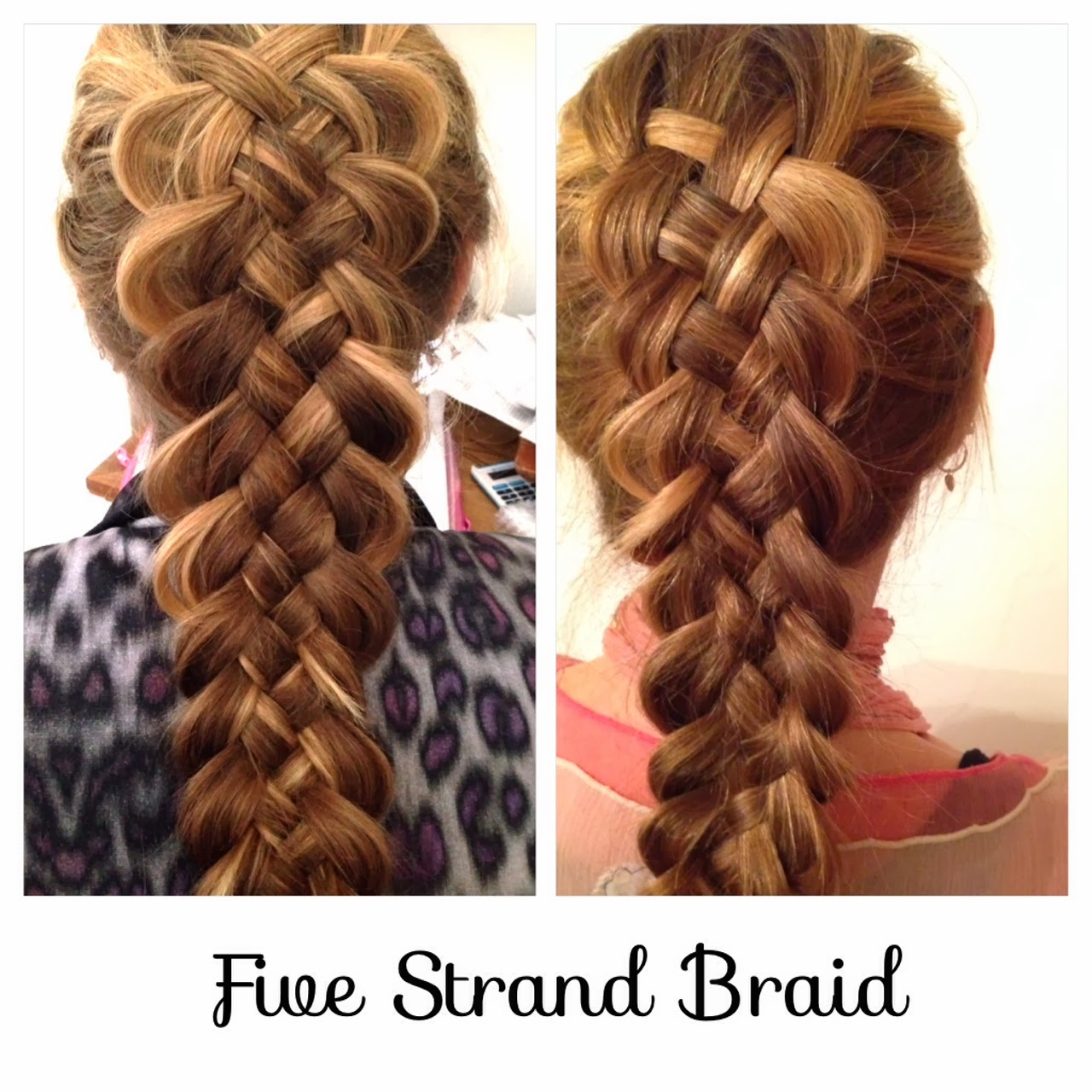 Luxurious braid of 4 strands