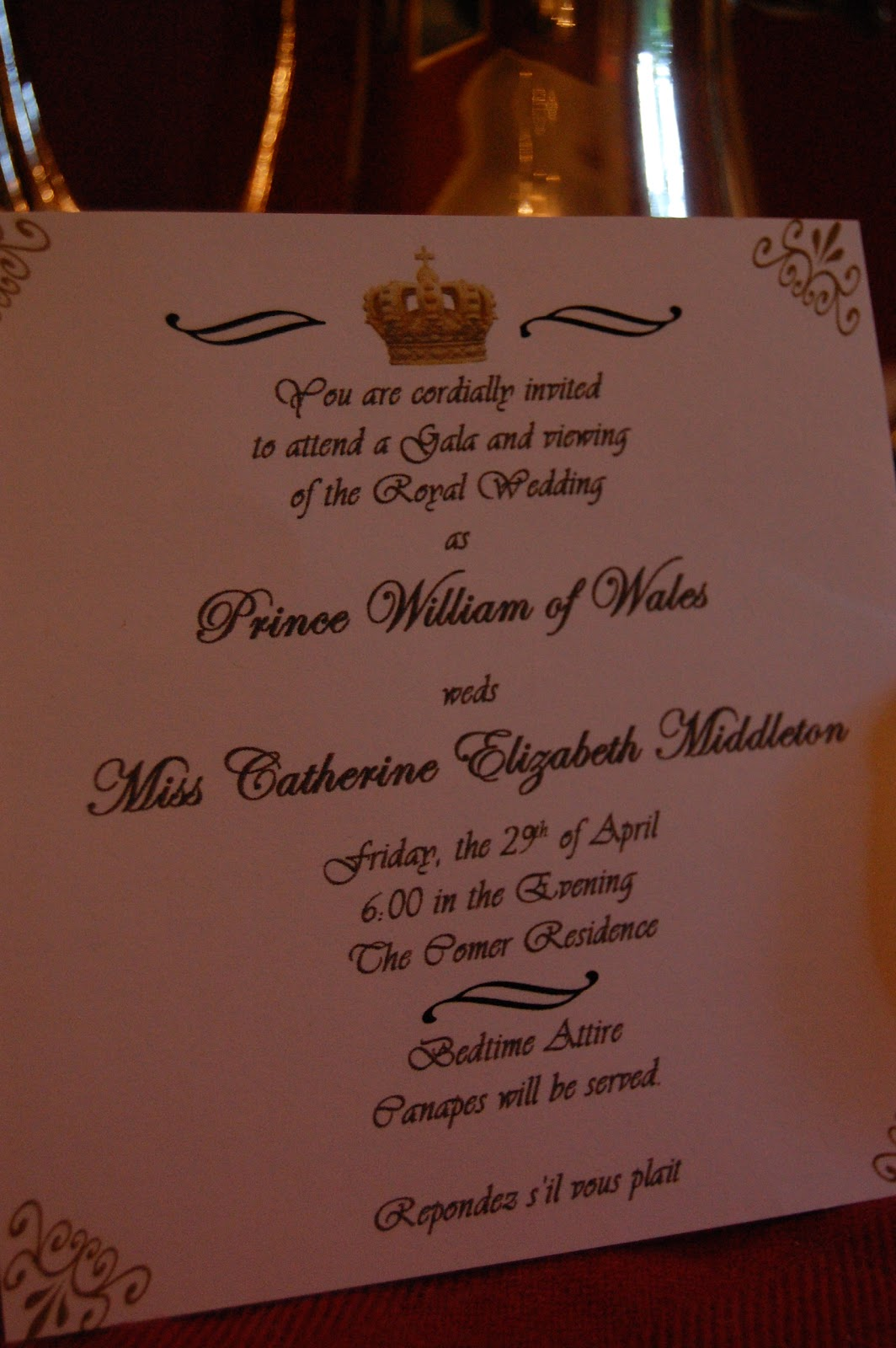 Long Party of Five: A Royal Wedding Celebration