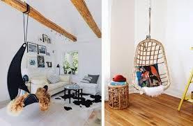 Decoración natural con estas sillas colgantes integradas en el interior