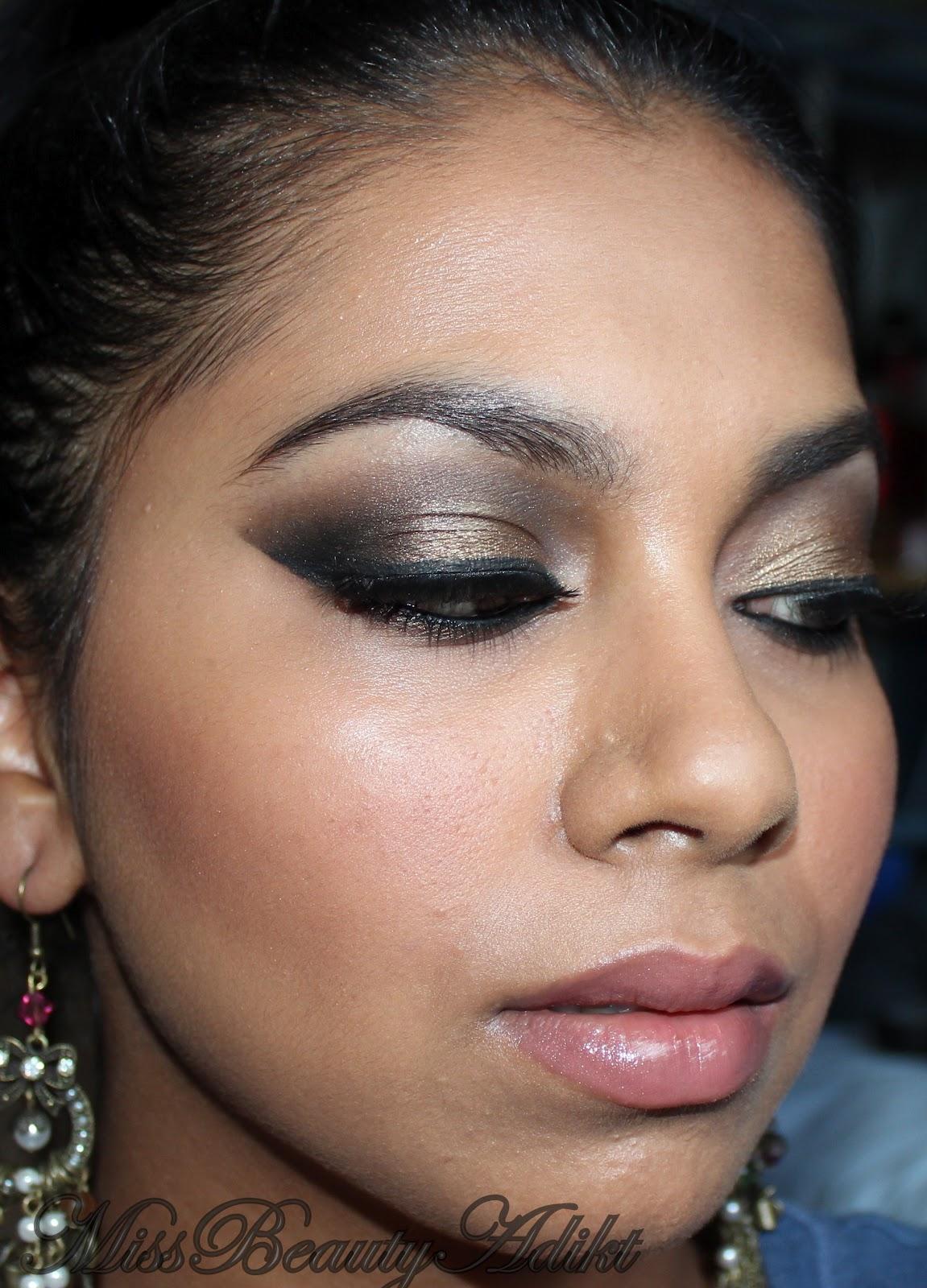 Dramatic arabic eye makeup using illamasqua neutral palette