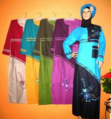 Baju muslim bahan katun
