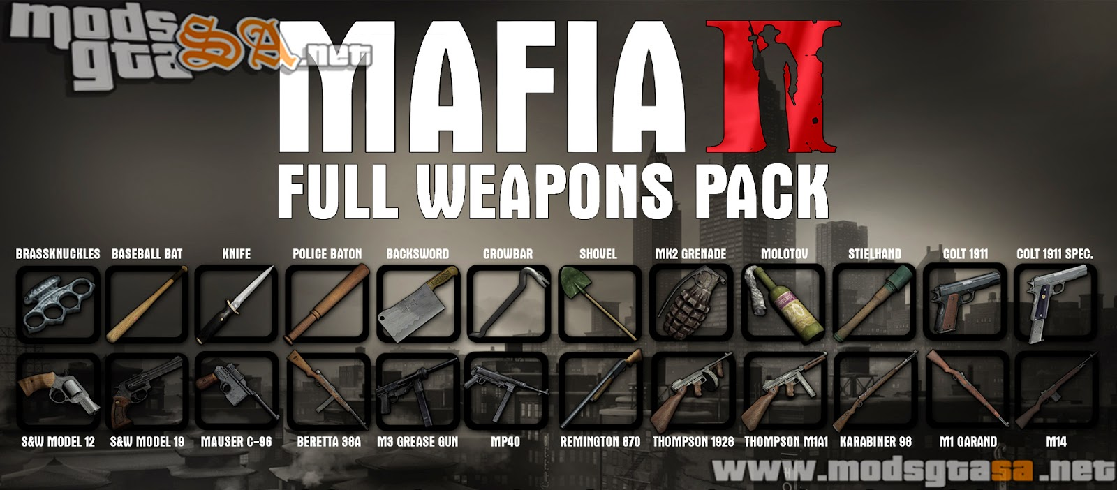SA - Pack de Todas as Armas Mafia II