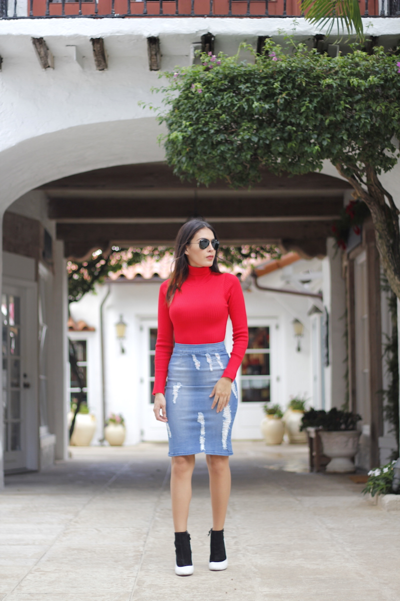the chiffon diary denim skirt hot miami styles