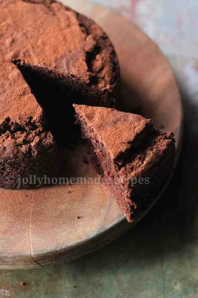 "... Whole Wheat Chocolate Cake "". The texture of the cake is soft and"
