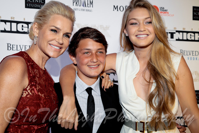 Celebrity Fight Night 2013 Red Carpet Yolanda Foster Gig Hadid Anwar