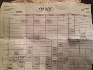 FroBunni | The WAT schedule