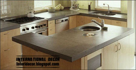 Kitchen sinks synchronized with the counter, round kitchen sinks