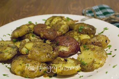 Ranch Smashed Baby Potatoes