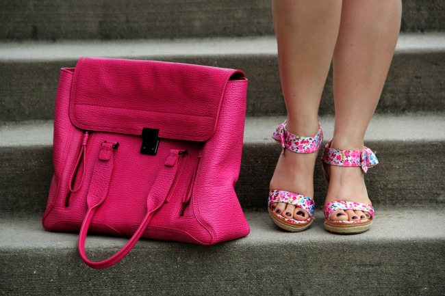 3.1 Phillip Lim Pashli Satchel - Barney's of New York, Flower Sandals - Nordstrom Rack