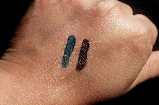 Laura Mercier Creme Eye Liner in Indigo & Espresso Swatches