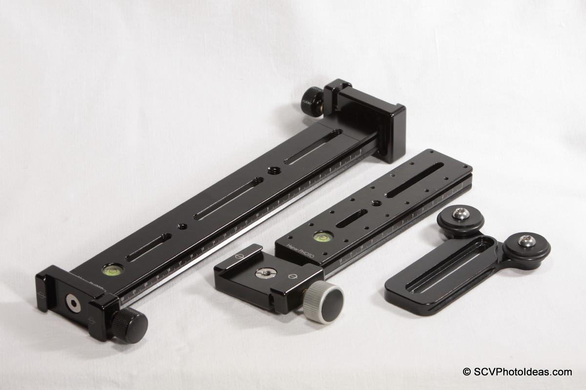 LLSB w/ Hejnar PHOTO G20-10 + F60 QR clamp in front + F61b QR clamp at back w/ G15-60 rail - LSB-R2 - F012 QR clamp