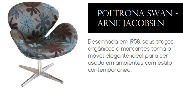 Poltrona de design desenhada em 1958 pelo designer Arne Jacobsen