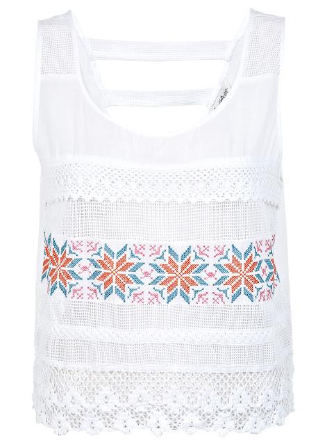 cross stitch top