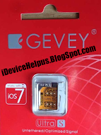 GEVEY Ultra S AT&T /GSM iOS 7 up to 7.0.4