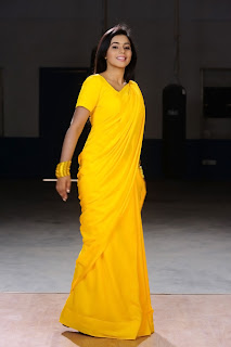 Poorna New Pictures in Yellow saree 003.jpg