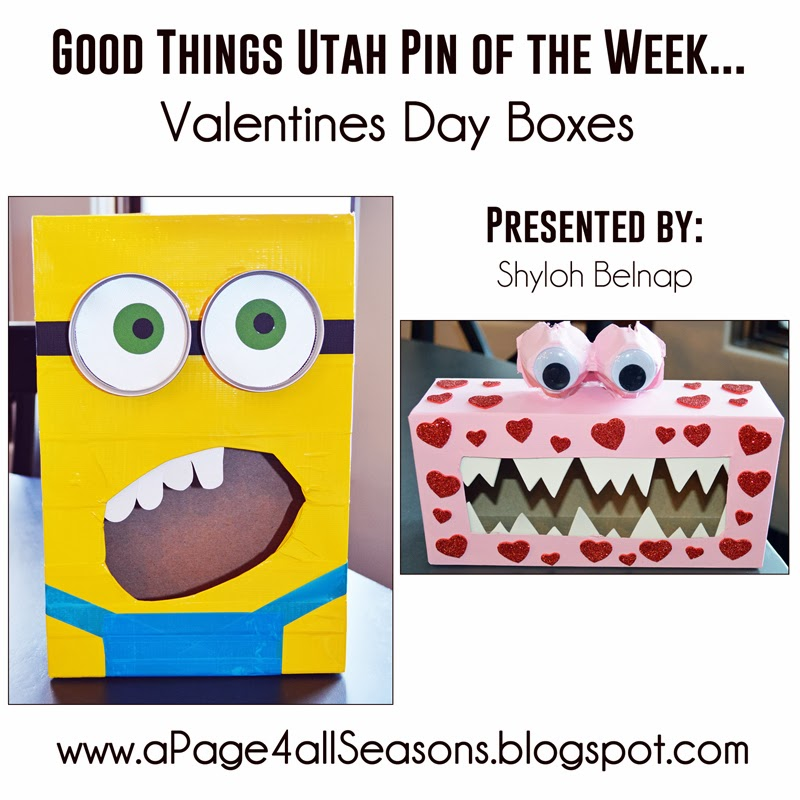 Shyloh belnap good things utah pin of the week for Nice things to do for valentines day