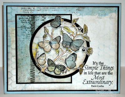 Stamps - Our Daily Bread Designs Faith, Little Things, Honeycomb Background and Butterfly Branch Die.  Paper - Bo Bunny Country Garden