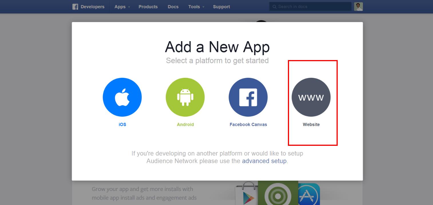 how to create app in facebook developer