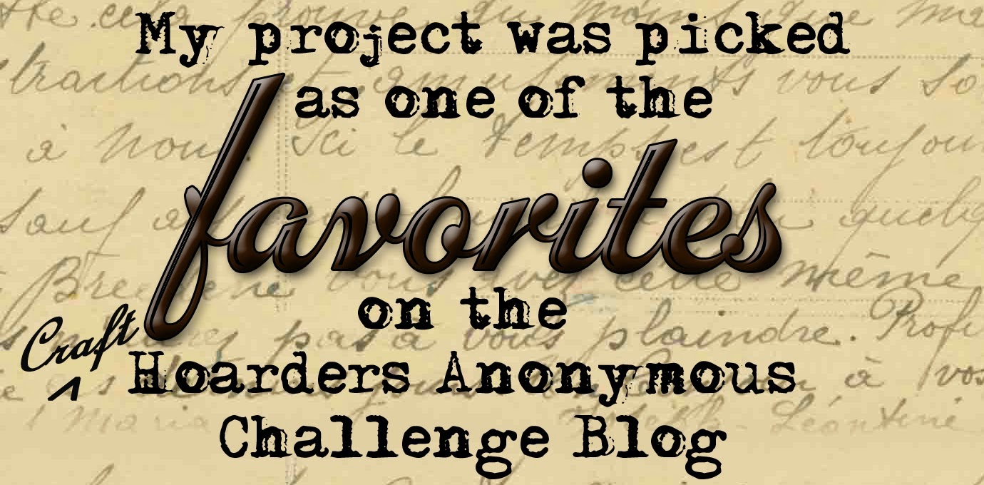 Challenge # 9, Craft Hoarders Anonymous Challenge Blog
