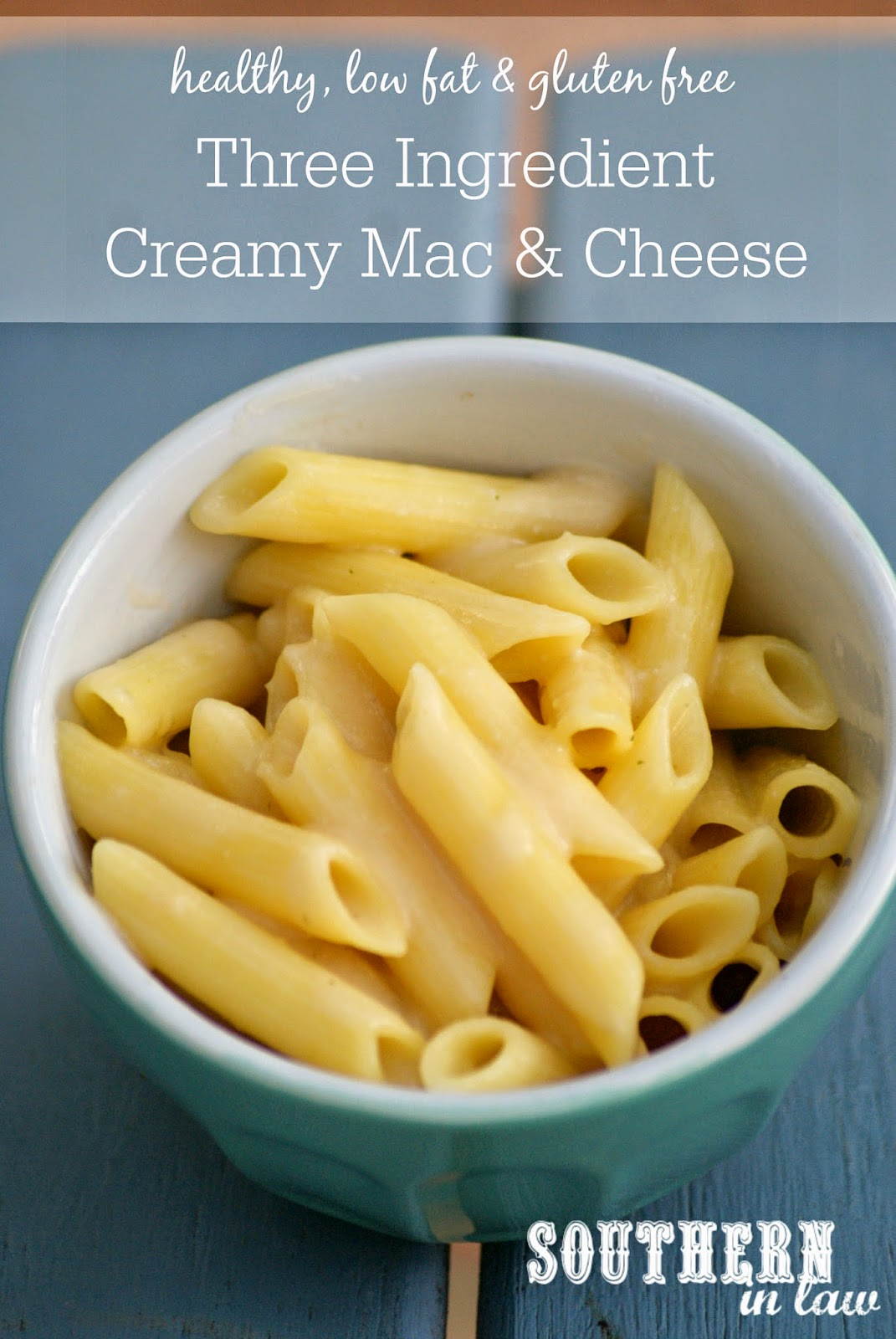 Gluten Free Three Ingredient Creamy Mac and Cheese Recipe - Healthy, low fat, gluten free, low calorie, dairy free