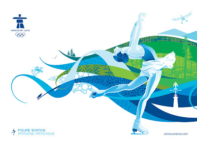 Free Vancouver 2010 Olympic Winter Games PowerPoint Background 24