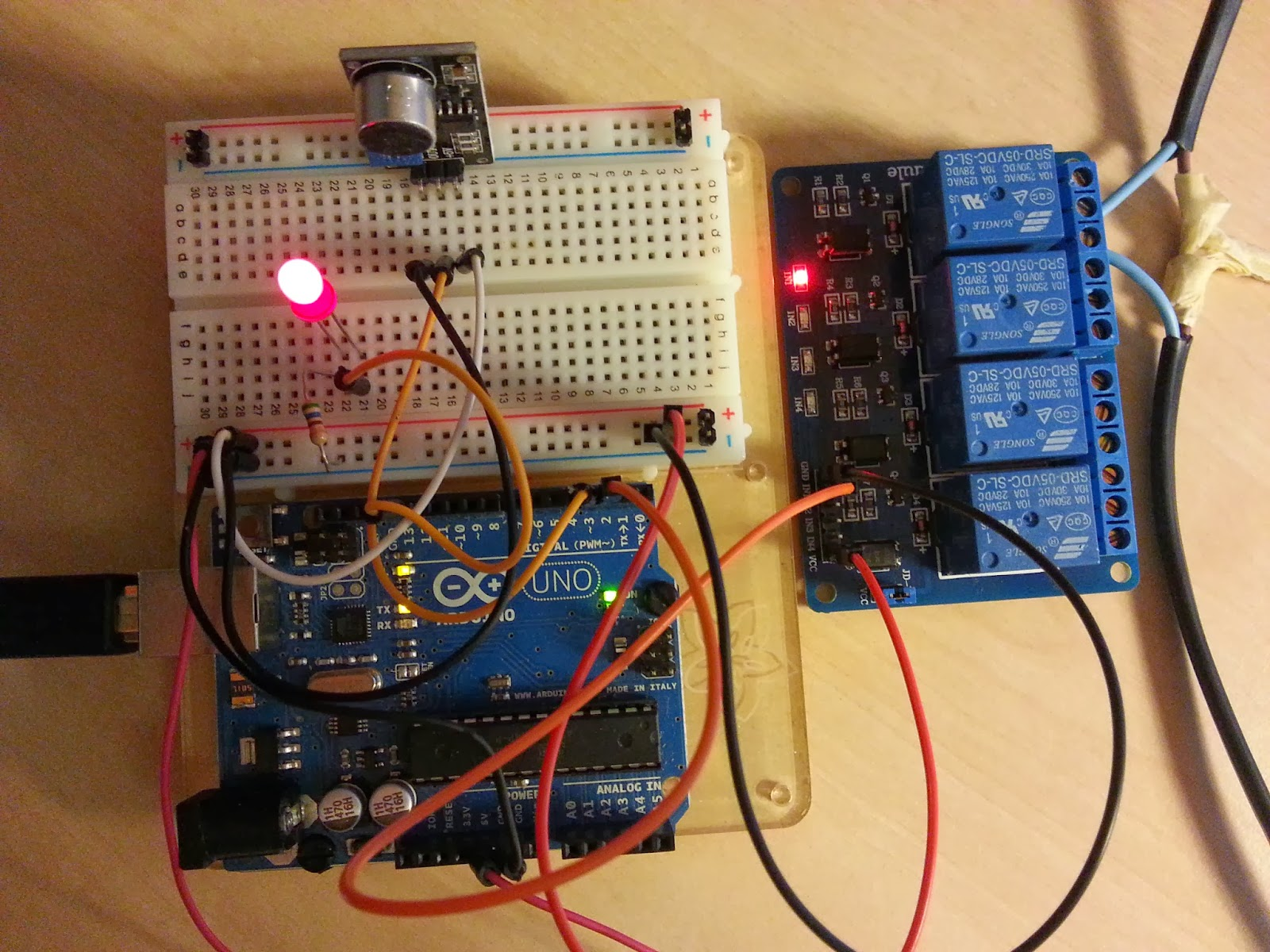 Two Cups Of Tea Sound Sensor With Relay - Clap sensitive on off relay