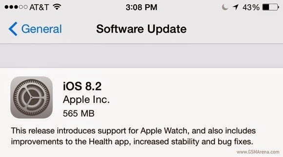 iOS 8.2 firmware for apple iDevice
