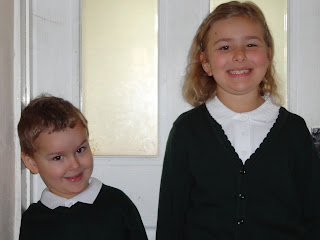 Top Ender and Big Boy on their First Day of School 2012