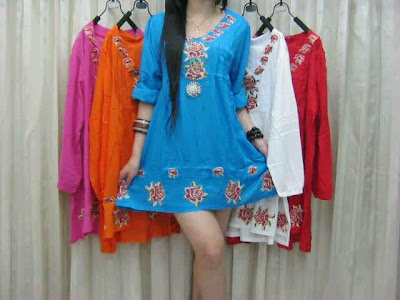 dress katun bordir bahan katun rayon