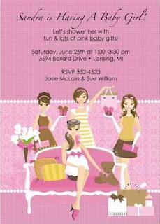 Pink GirlFriend Baby Shower Invitations