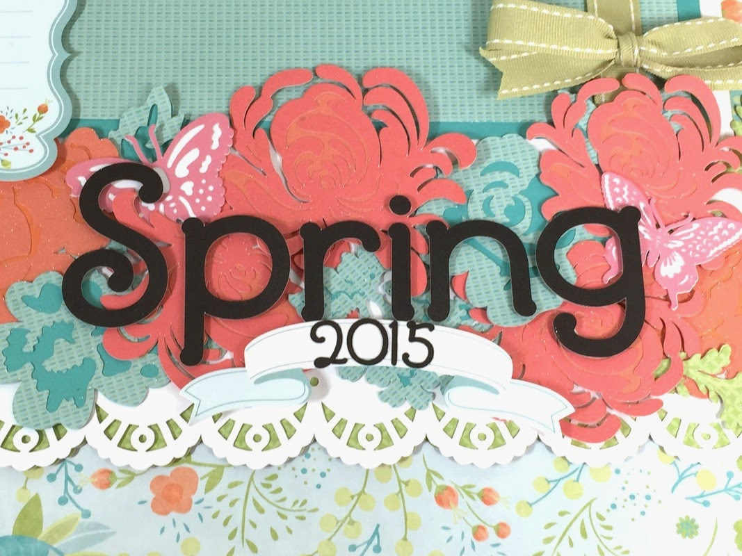Cricut Spring Scrapbook layout