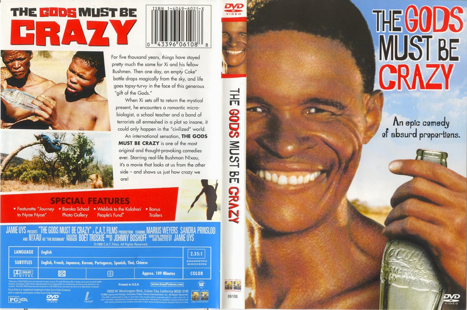 the god must be crazy movie The gods must be crazy is a series of films starring the namibian san farmer and actor nǃxau ǂtoma.