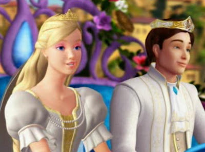 Barbie as Princess Rosella and Prince Antonio in the movie Barbie as the Island Princess
