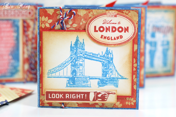 London Tower bridge rubber stamp