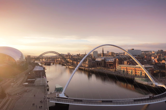 newcastle quayside gateshead best photo sunset sage millenium bridge tynebridge