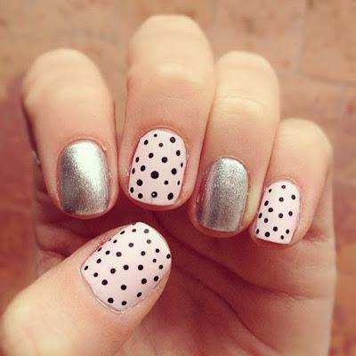 Decoración fácil y hermosa para uñas cortas
