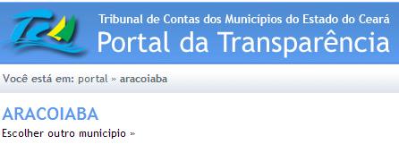 O que você deseja saber sobre a Prefeitura de ARACOIABA ?
