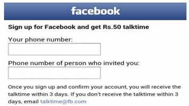 How to get free calling credit to use Facebook via tablets / cell phones?